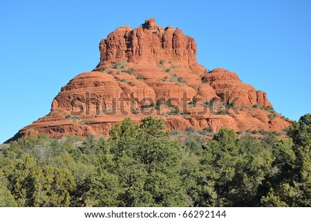 Bell Rock in Sedona, Arizona - stock photo