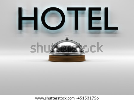 Bell signs in the background 3d rendering. - stock photo