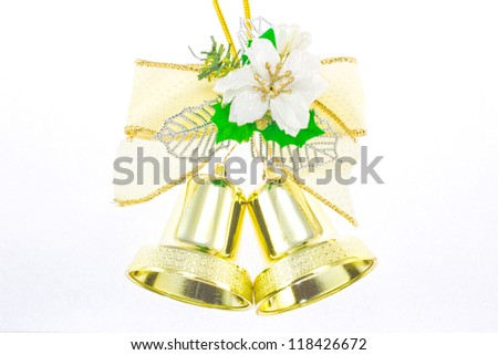 bell to decorate for Christmas. - stock photo