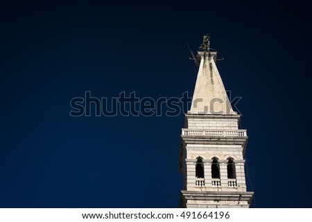 Bell tower in Rovinj, Croatia
