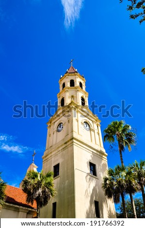 bell tower in st. augustine