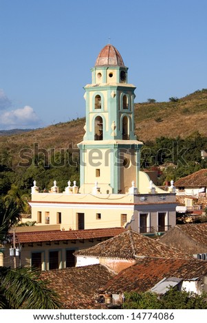 Bell-tower in the old town Trinidad, Cuba