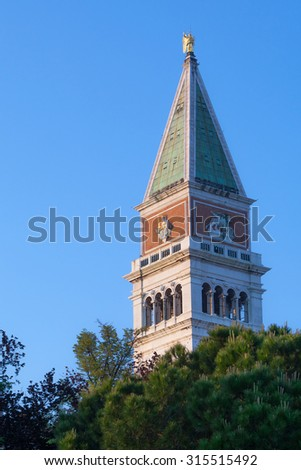 Bell tower of San Marco, Venice, Italy - stock photo