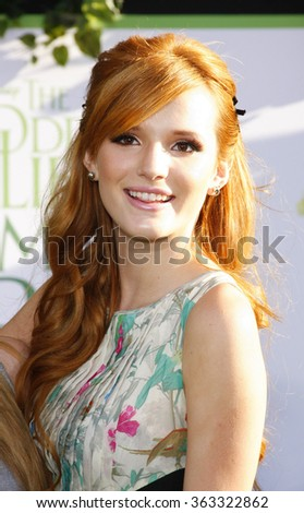 """Bella Thorne at the Los Angeles premiere of """"The Odd Life Of Timothy Green"""" held at the El Capitan Theater, Los Angeles, USA on August 6, 2012.   - stock photo"""