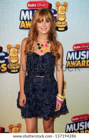 Bella Thorne at the 2013 Radio Disney Music Awards, Nokia Theater, Los Angeles, CA 04-27-13 - stock photo