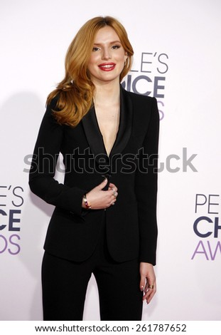 Bella Thorne at the 41st Annual People's Choice Awards held at the Nokia L.A. Live Theatre in Los Angeles on Tuesday January 7, 2015.  - stock photo