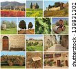 Bella Toscana - collage - stock photo