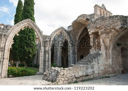 Bellapais Abbey (The Abbey of Peace) built in 13th century, Cyprus
