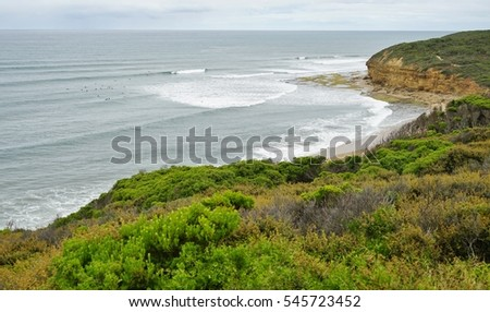 Bells Beach on the Great Ocean Road near Torquay, Australia