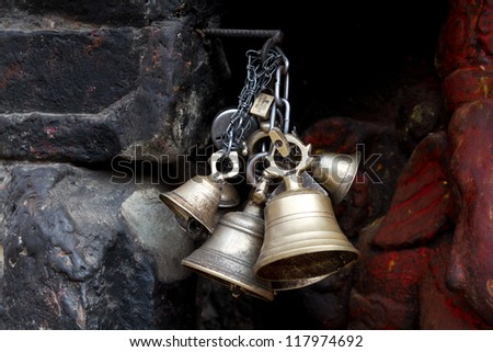 Bells Ceremony, buddhist temple, Nepal