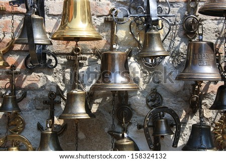 Bells on a wall