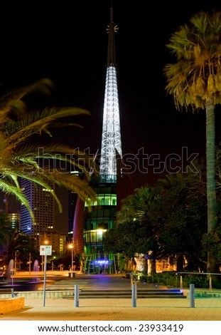 Bells tower in perth - stock photo