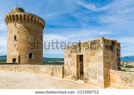 Bellver Castle fortress in Palma-de-Mallorca, Spain - stock photo
