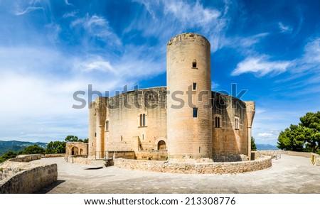 Bellver Castle fortress in Palma-de-Mallorca, Spain - stock photo