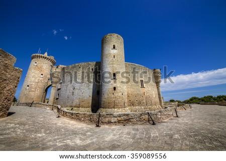 Bellver Castle, Palma, Mallorca - stock photo