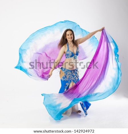 belly dancer woman - stock photo