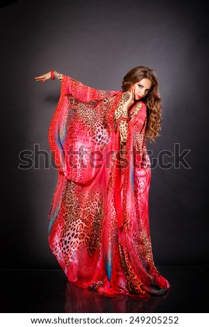 Belly dancer woman arabian beauty dancer traditional dress, bellydnce woman dancing, oriental woman, series, studio isolated.