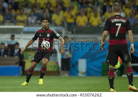 Belo Horizonte, Brazil - july 08, 2014: Mats HUMMELS during the FIFA 2014 World Cup. Brazil is facing Germany in the semi-finals at Mineirao Stadium