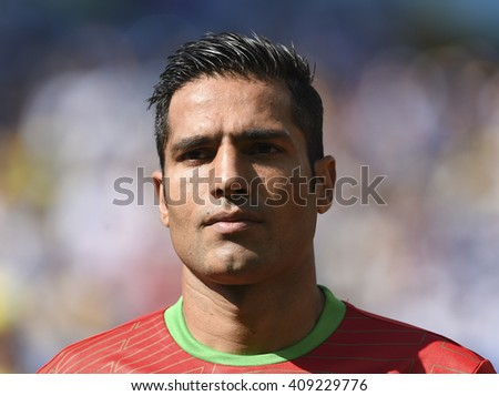 Belo Horizonte, Brazil - June 21, 2014: Amirhossein SADEGHI of Iran during the FIFA 2014 World Cup. Argentina is facing Iran in the Group F at Minerao Stadium