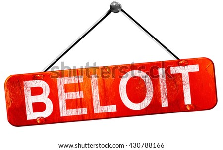 beloit, 3D rendering, a red hanging sign