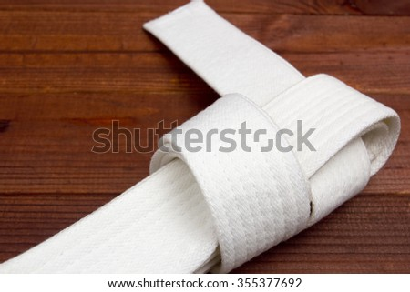 Belt - clothing accessory for karate lessons in martial arts.
