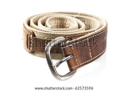 belt isolated on a white background - stock photo