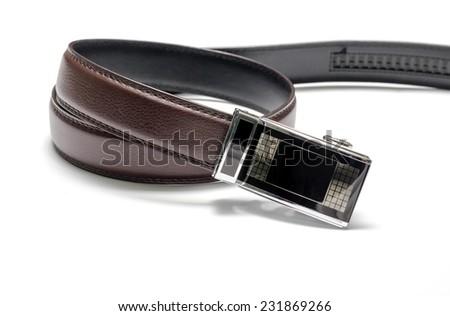 belt on a white background - stock photo