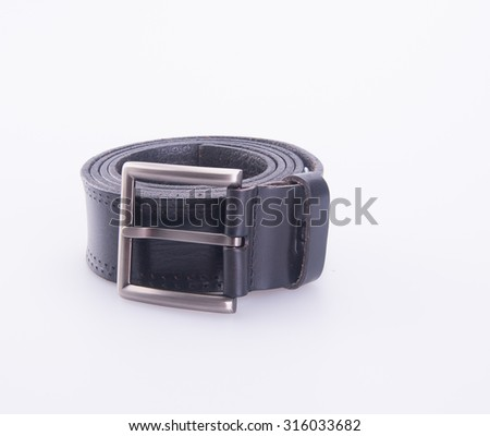 belt or men's black belt on a background