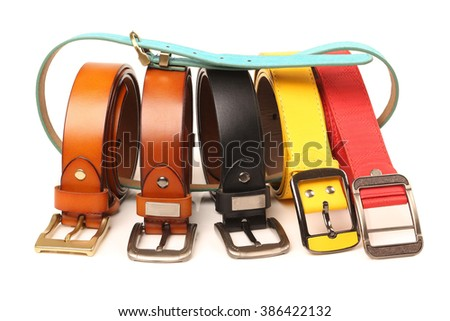 belts. belts on a background. belts. belts on background
