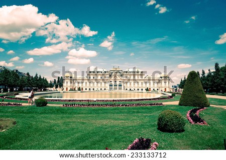 Belvedere historic building in Vienna, Austria - stock photo