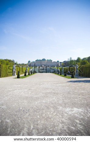 Belvedere palace and park in Vienna