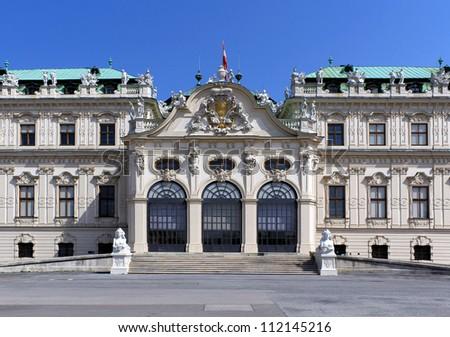 Belvedere Palace Facade, Vienna, Austria. - stock photo