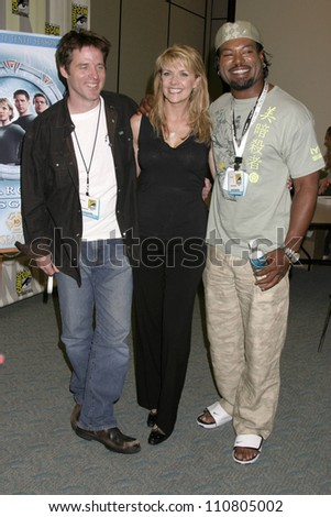Ben Browder with Amanda Tapping and Christopher Judge at 2007 Comic-Con International. San Diego Convention Center, San Diego, CA. 07-27-07