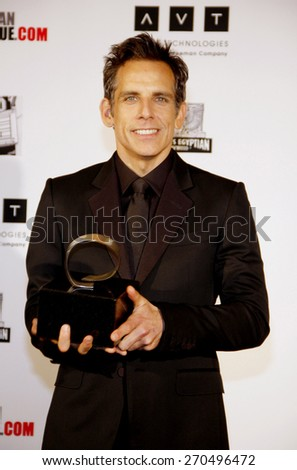 Ben Stiller at the American Cinematheque 26th Annual Award Presentation To Ben Stiller held at the Beverly Hilton Hotel in Beverly Hills on November 15, 2012.  - stock photo
