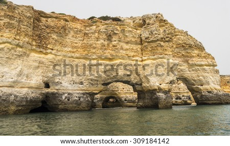 Benagil beach caves, Algarve, Portugal