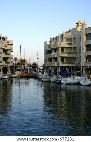 Benalmadena, Harbor, Costa Del Sol, Spain - stock photo
