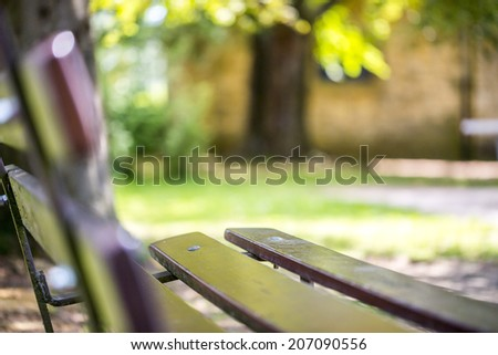 Bench by the park - stock photo