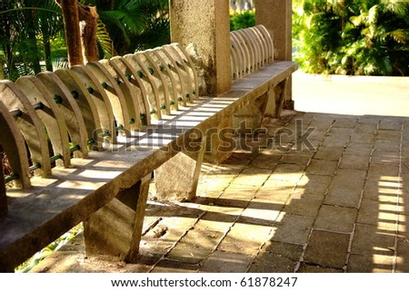 bench with sunshine