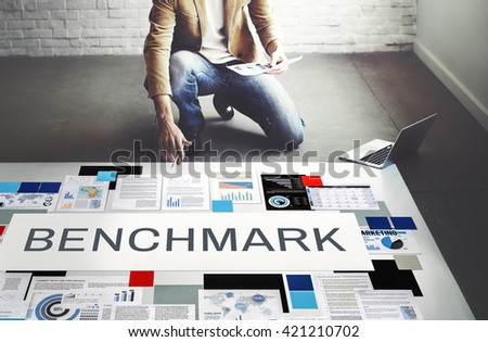 Benchmark Development Improvement Efficiency Concept - stock photo