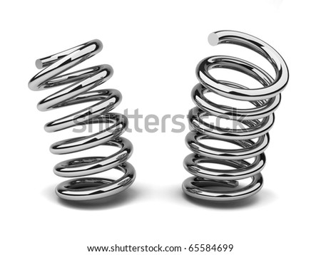 Bended spring - stock photo