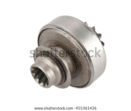 Bendix Drive starter. Detail for starter of automobile. starter drive for motor starter - stock photo