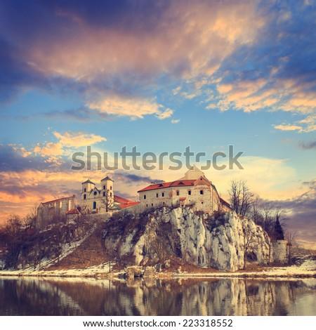 Benedictine monastery in Tyniec near Cracow, Poland  - stock photo