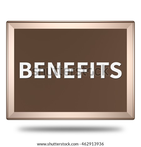 benefits icon. Internet button.3d illustration.