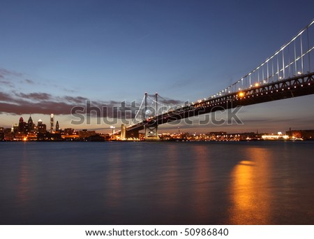 Benjamin Franklin Bridge - stock photo