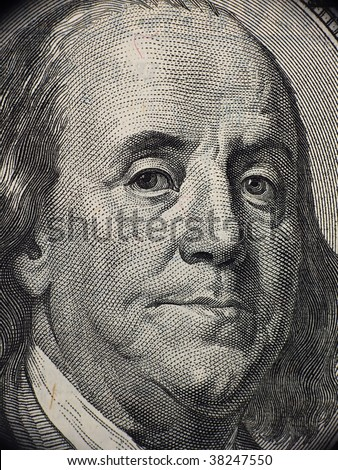 Benjamin Franklin portrait from banknote