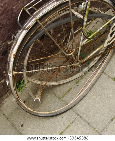 bent wheel on a bike from accident