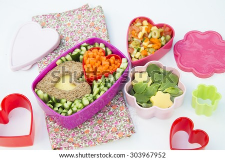 Bento box with healthy meal for kids  - stock photo