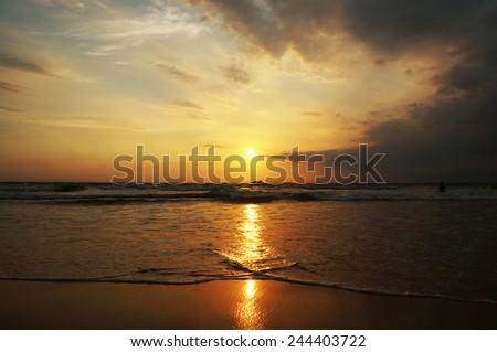 bentota beach - stock photo