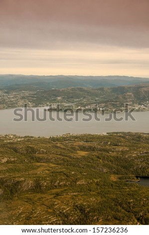 Bergen and the surrounding area. Norway