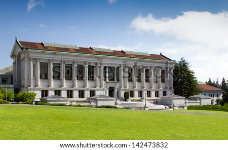 BERKELEY, CA/USA - JUNE 15: The University Library on the campus of the University of California, Berkeley is the fourth largest University library in the United States. June 15, 2013. - stock photo